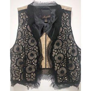 McGinn Knightsbridge Chevonne Lace & Linen Vest
